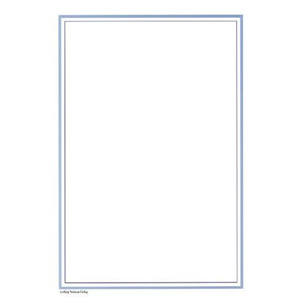 526360 - Minnesblad med blå ram