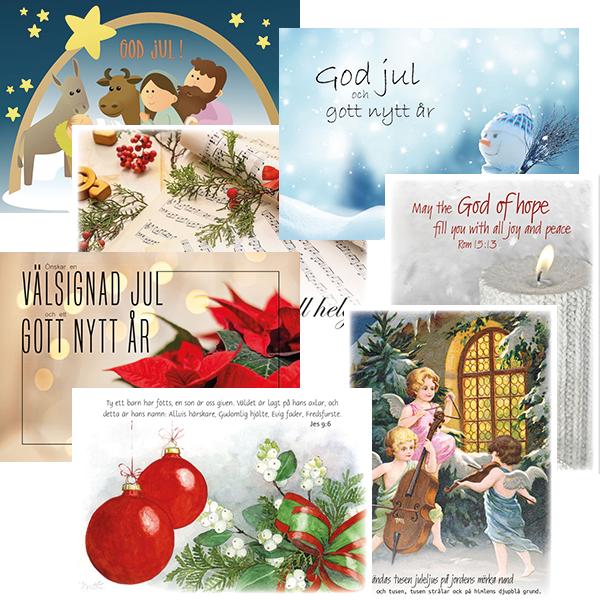 Julkort - Blandade motiv - Styckpris