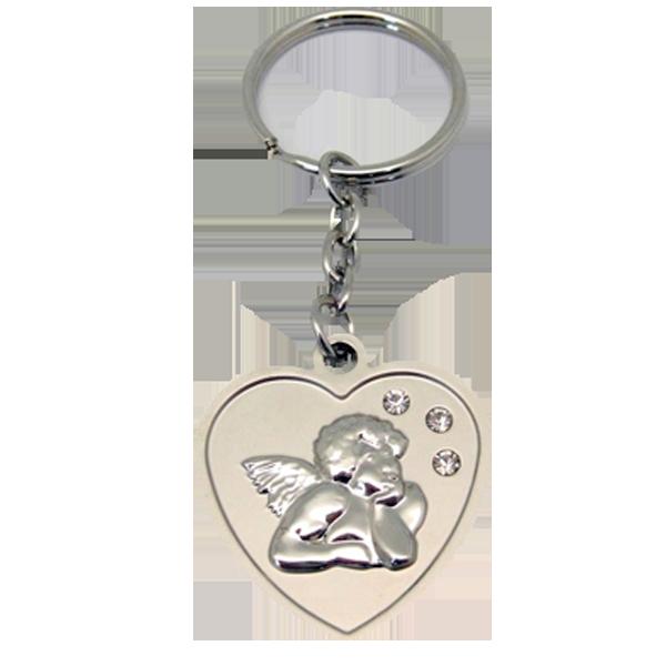 Nyckelring - Hjärta/Ängel - Metall