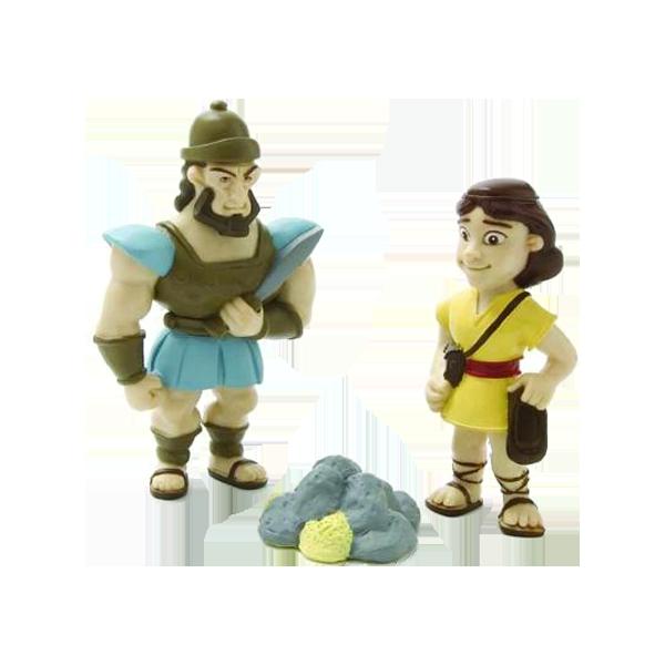 Plastfigur - David och Goliat