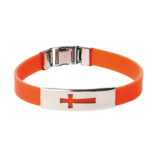 Armband - Silikon - Kors - Orange