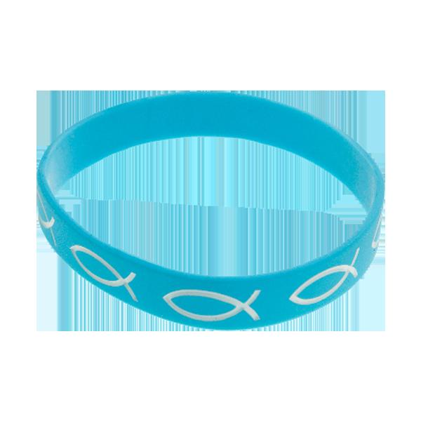 Armband - Silikon - Fisk - Turkos