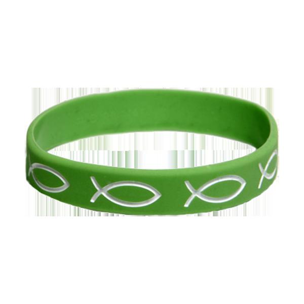 Armband - Silikon - Fisk - Grön
