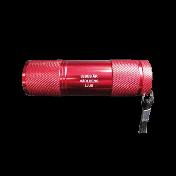 Ficklampa - Röd - Jesus är världens ljus