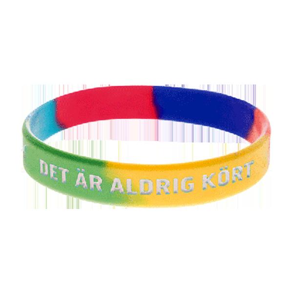 Armband - Silikon - Aldrig kört - Regnbåge