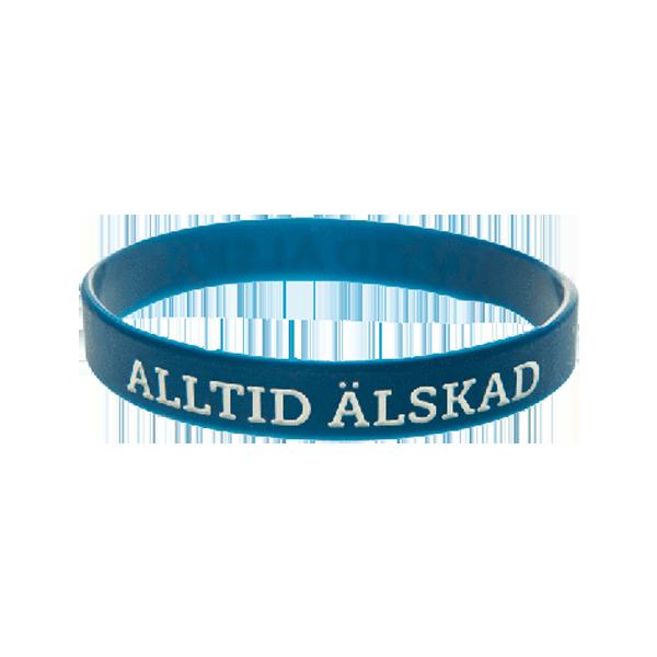Armband - Silikon - Alltid älskad - Mörkblå