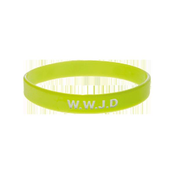 Armband - Silikon - WWJD - Lime