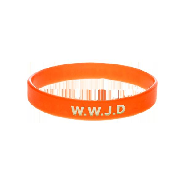 Armband - Silikon - WWJD - Orange