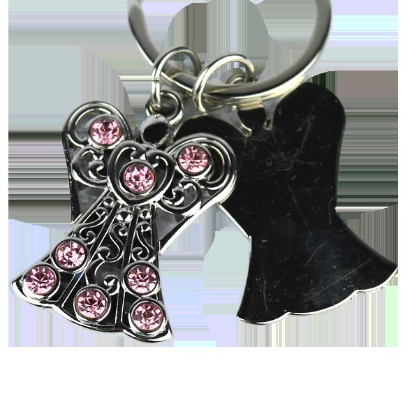 Nyckelring - Ängel med kristaller