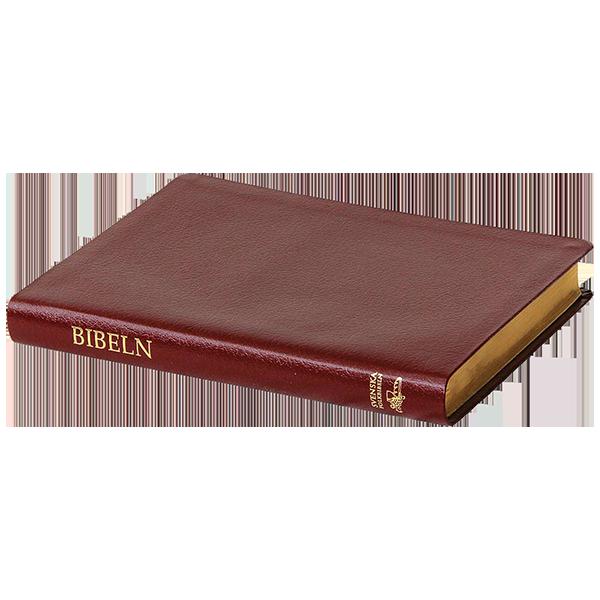 Svenska Folkbibeln 2015, slimline, rött konstskinn