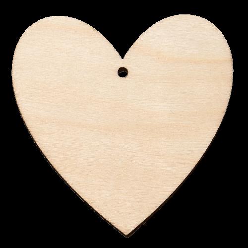 Träfigur - Hjärta, 5-pack