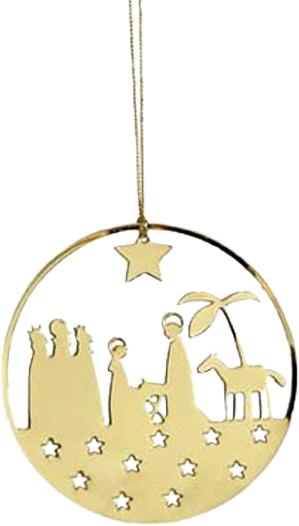 Hängdekoration - Krubba - Guldfärgad