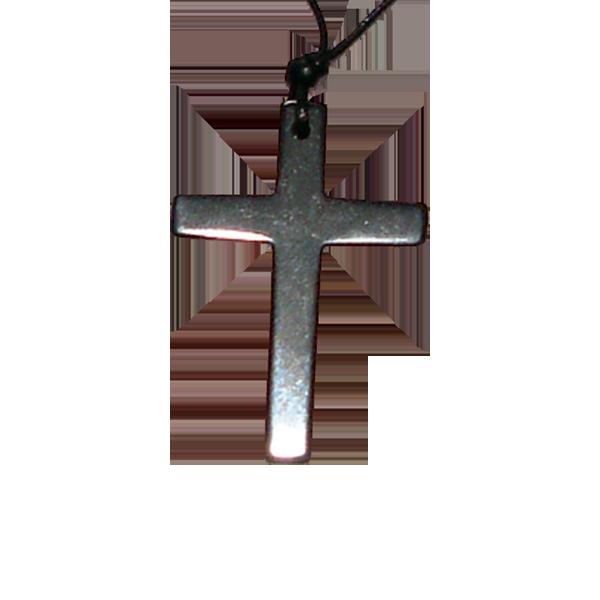 Halssmycke - Kors - 35 mm - Halvädelsten