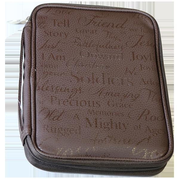 Bibelfodral - Medium - Slimline - Mörkbrun - Konstläder