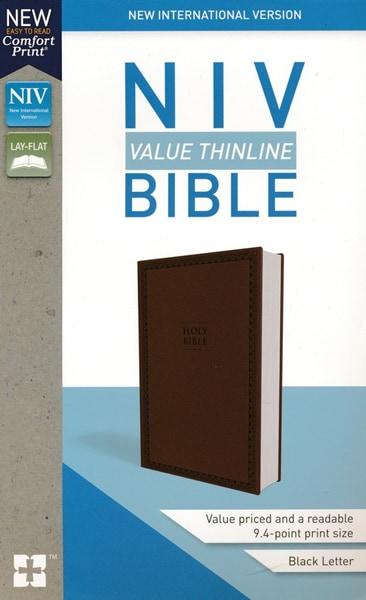 NIV Thinline Bible - Brun