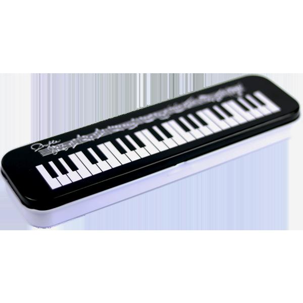 Pennfodral - Pianotangenter och noter - Plåt