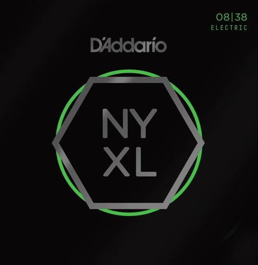D'Addario NYXL0838 - Elgitarrsträngset, 8-38, nickel