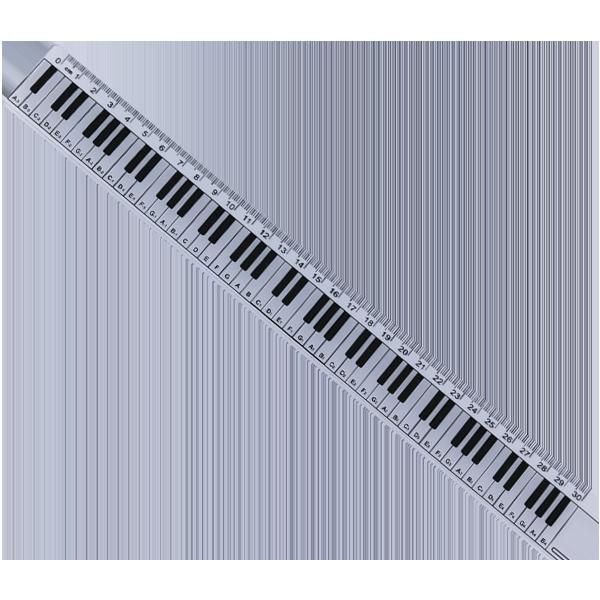 Linjal - Piano - 30 cm