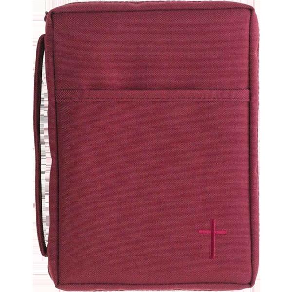 Bibelfodral - Large - Röd - Canvas