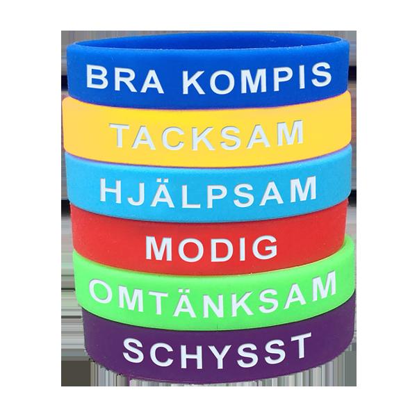 Armband - Så vill jag va´ - Silikonarmband med betydelse - 6-pack