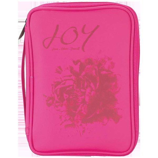 Bibelfodral - Medium - Slimline - Rosa - Joy - Konstläder