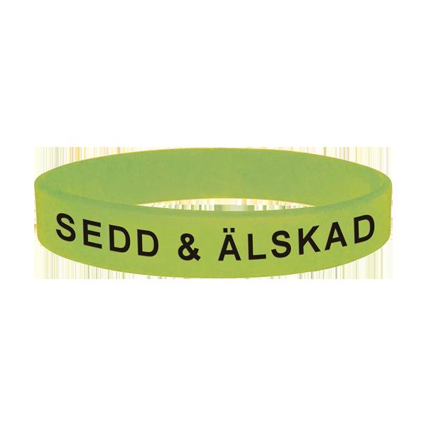 Armband - Silikon - Sedd - Älskad - Ljus limegrön