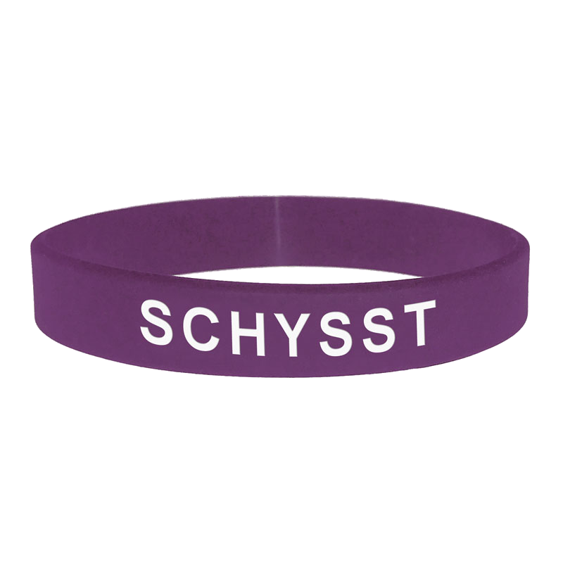 Armband - Silikon - Schysst - Lila