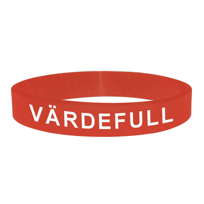 Armband - Silikon - Värdefull - Röd