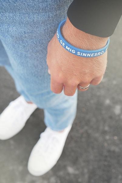 Armband - Silikon - Gud ge mig sinnesro - Blå