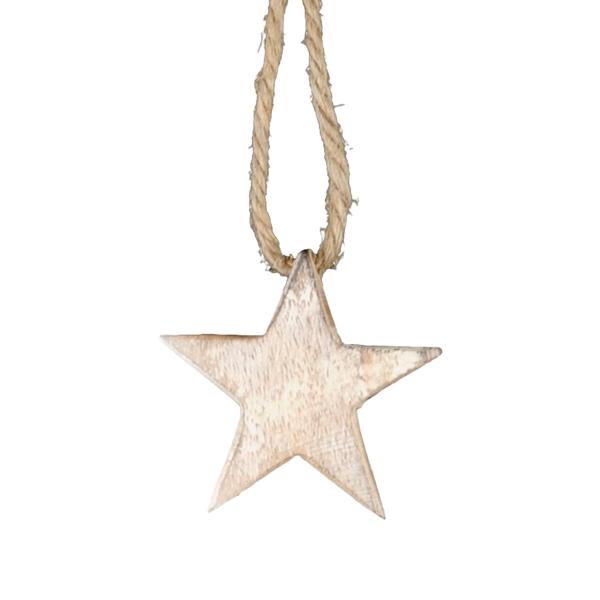 Hängdekoration - Stjärna - Trä