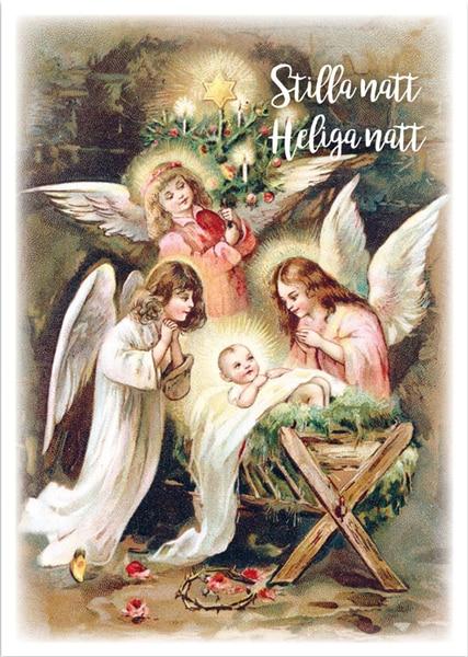 Julkort - Dubbelt med kuvert - BO5009