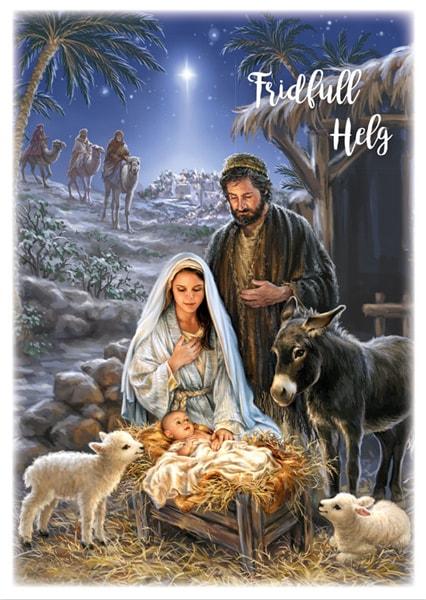 Julkort - Dubbelt med kuvert - BO5010