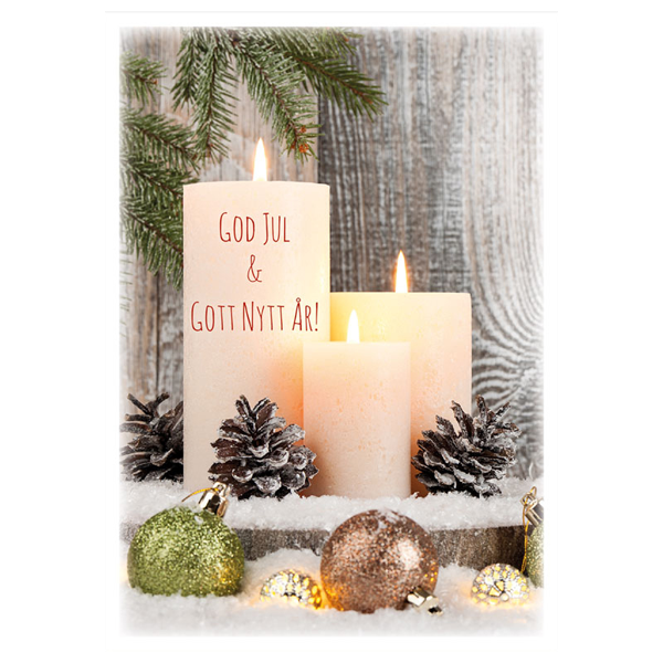 Julkort - Dubbelt med kuvert - BO5012