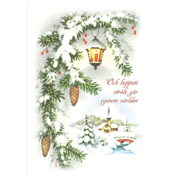 Julkort - Dubbelt med kuvert - BO5013