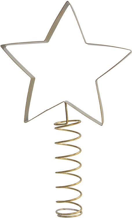 Julgranstopp - Stjärna - guldfärgad