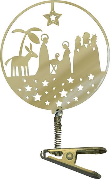 Clips - krubba - guldfärgad