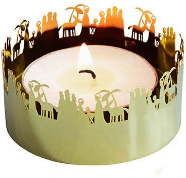 Ljushållare - Krubba - guldfärgad