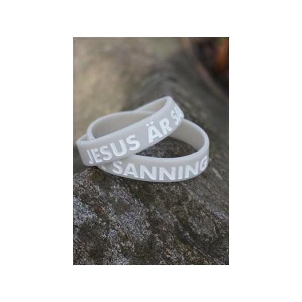 Armband - Silikon barnstrl - Jesus är sanning - Beige
