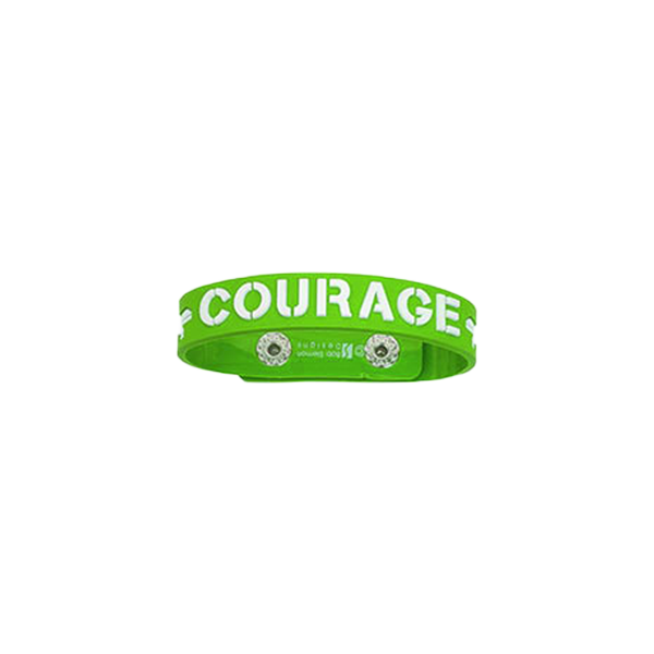 Armband - Courage - Gummi - Grön