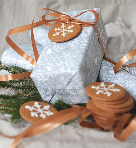 Julpapper med julsånger - 10 ark