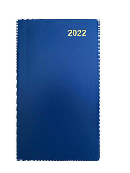 Fickkalender med Kyrkoåret 2021 - Blå - Häftad