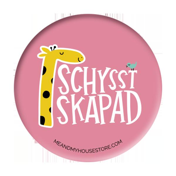 Knapp - Schysst skapad - Rosa
