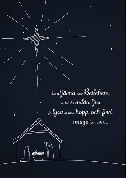 Julkort - Dubbelt med kuvert - BO5015