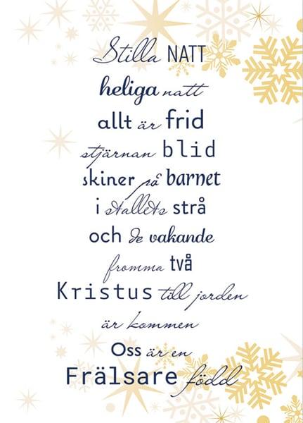 Julkort - Dubbelt med kuvert - BO5014
