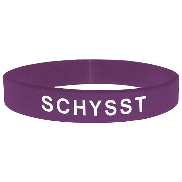 Armband - Silikon - Schysst - Lila - Barn