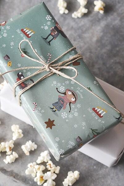 Julpapper - Hurra för Jesus - 10 ark