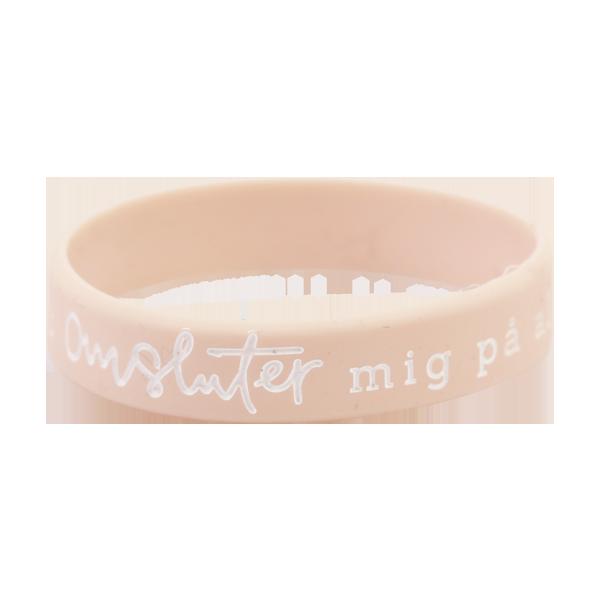 Armband - Silikon tonår - Du omsluter mig på alla sidor - ljusrosa