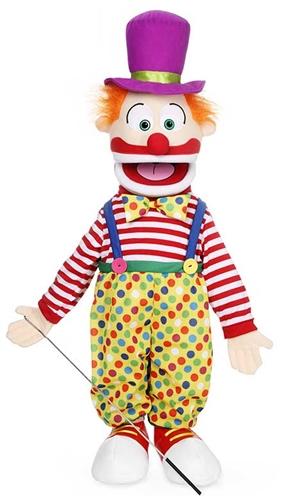 Handdocka - Clown - 65 cm