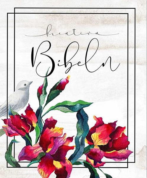 Kreativ Bibel i vit hårdpärm
