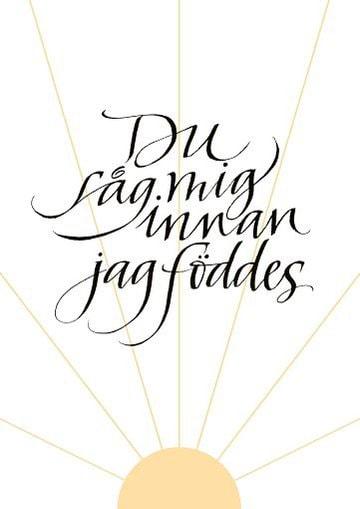 00527779 - Dopbevis - Kalligrafi